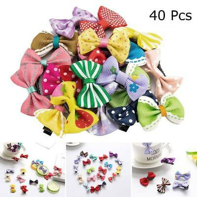 40pcs Baby Girls Kids Toddler Mini Flowers Bow Hair Clips Hairpin Alligator Clip