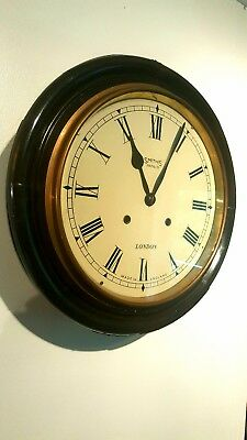 Ebonised Smith's Enfield Dial Chiming Clock for Railway or School