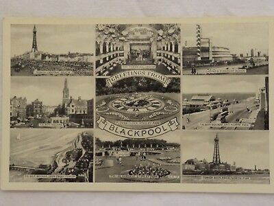 Greetings from Blackpool - England - Vintage - Collectable - Postcard.