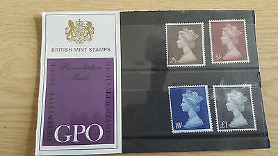 1969 GB GPO presentation pack high value pre-dec Machin definitives No. 7 type A