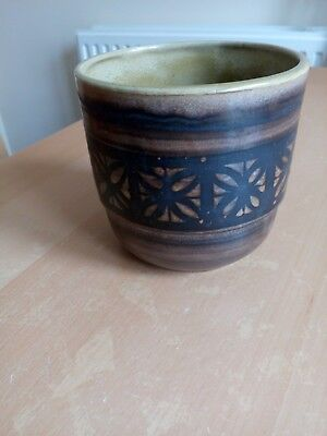 Vintage David Sharp Signed Rye Pottery Planter / Bowl In Good Condition