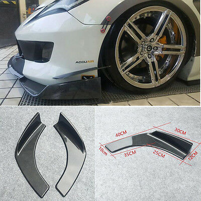 2-tlg ABS Auto Winglet Front Flaps Flügel SPOILERECKE Canard Lippe Carbon Look