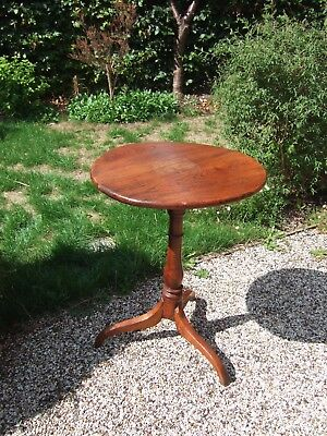 Antique , Georgian,timber circular side table.