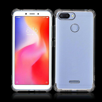 For Xiaomi Redmi 6 6A 6 Pro Case, Shockproof Soft anti-scratch Phone Cover-Clear