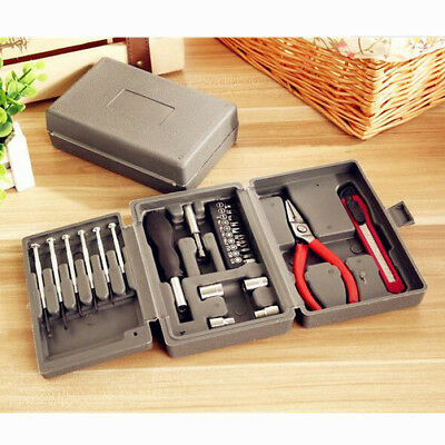 24PCS/Set Home Multi-function Toolbox Hardware Portfolio Kit Boxed Square Tools