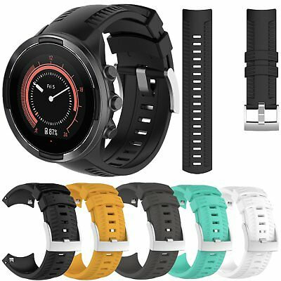 For SUUNTO 9 GPS Silicone Strap Bracelet Classic Band w/Steel Buckle Adjustable