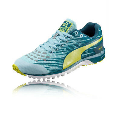 855a6c1e86d Puma Faas 300 v4 Womens Blue Green Cushioned Running Sports Shoes Trainers
