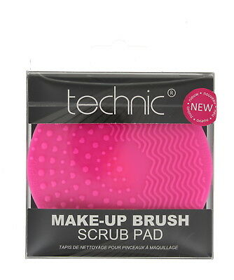 Technic Make-Up Brush Scrub Pad with Lasting Soft Synthetic Bristles