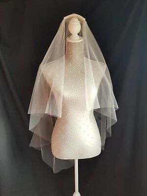 Bridal veil, Double tier , Fingertip length