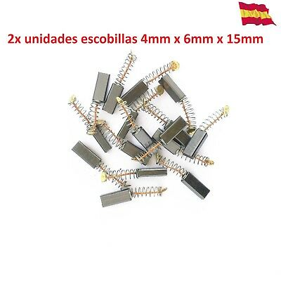 2x Escobillas de carbón Mini Taladro Variable Speed Dremel 4mm x 6mm x 15mm  210