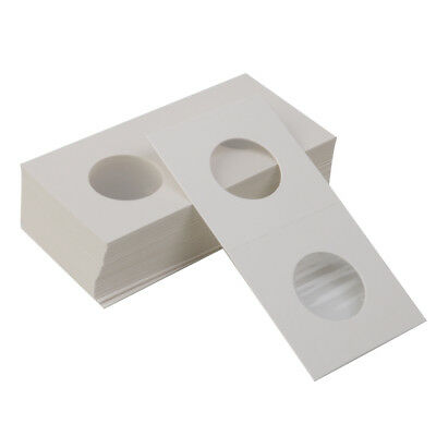 100Pcs 2x2 Cardboard Coin Supply Case Box Holder Protector White 26.5mm/40mm
