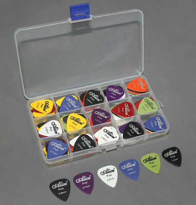 100Pcs Electric Guitar Bass- Pic Acoustic Music Pick Plectrum Assorted Thickness