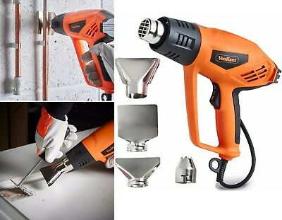 2000W Powerful Heat Gun Hot Air Gun 4 Nozzles Paint Varnish Adhesives Stripper