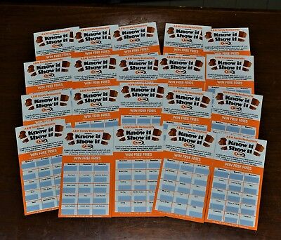 VTG 1977 NOS A&W Root Beer Restaurant Know It Show It Game Cards Lot of 20