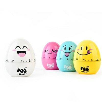 Kitchen Timer Cute Egg Shaped Mechanical Rotating Alarm Cooking Countdown Tool