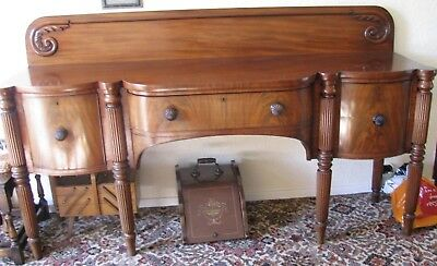 Antique Regency Mahogany dresser sideboard reeded legs  gillows style