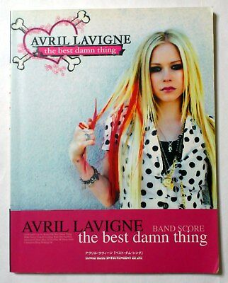 AVRIL LAVIGNE The Best Damn Thing BAND SCORE JAPAN GUITAR TAB