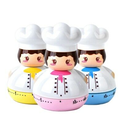 Kitchen Timer Mini Chef Shaped Cooking Countdown Alarm Baking Mechanical Timer
