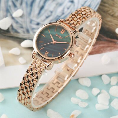 New Women Quartz Wrist Watch Fashion Bracelet Stainless Steel Band Analog Gift