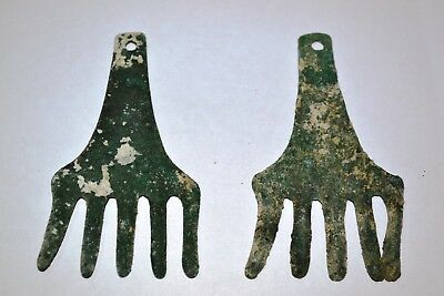 Pair of Museum Quality Ancient Bronze Age Bronze Horse Forehead Decorations,Urar