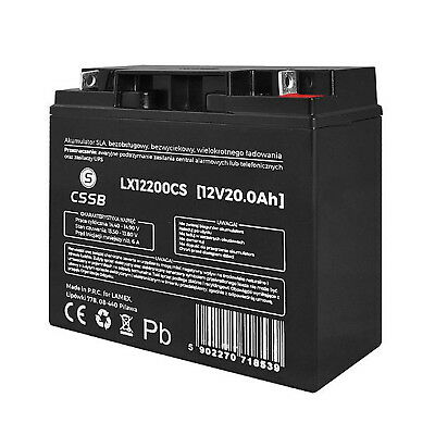 12V 20Ah Gel Battery Rechargeable Photovoltanic Panels Scooter UK