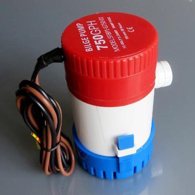 750GPH 12V Boat Marine Automatic Submersible Auto Bilge Water Pump Float Switch