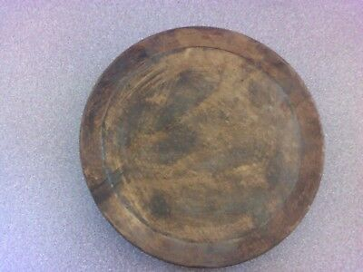 OLD Antique Primitive  Wooden Bowl Cup Plate.