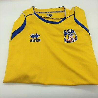 RARE Crystal Palace 2008 09 Yellow Away Shirt Size XL EXTRA LARGE SHORT  SLEEVE 28e7212fc