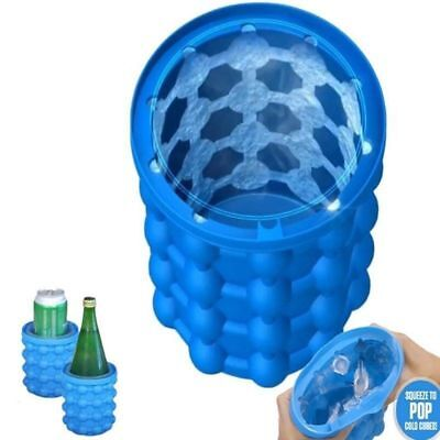 Magic ICE CUBE Maker Bucket Silicone Genie Revolutionary Kitchen Tool Space 1X