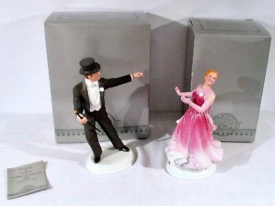 1984 Avon Images of Hollywood Figurines in Boxes FRED ASTAIRE / GINGER ROGERS