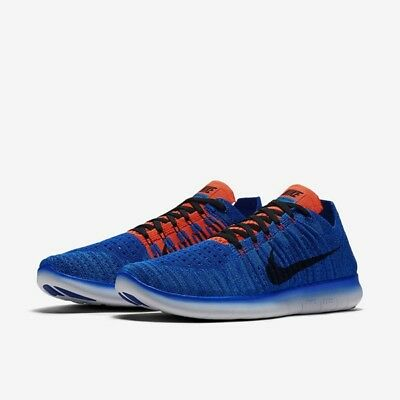 Men's Nike Free RN Flyknit Running Shoes, 831069 405 Size 14 Racer Blue