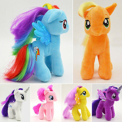 My Little Pony Cartoon Plush Doll Rainbow Dash Fluttershy Stuffed Soft Toys Kids