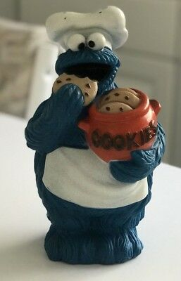 """Sesame Street Cookie Monster 9"""" Tall Bank w/ Chef's Hat & Apron by Muppet Inc"""