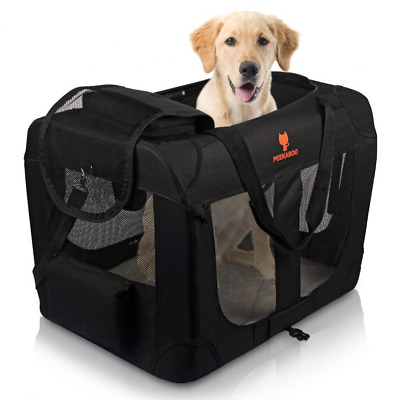 Foldable Pet Crate Soft Dog Carrier Portable Kennel for Small Medium Dogs Cats