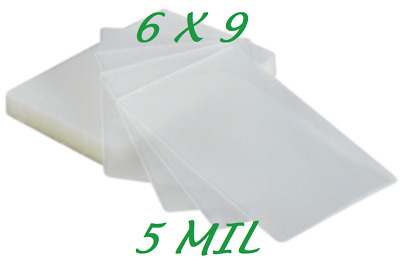 6 x 9 Laminating Laminator Pouches Sleeves 100 PK 5 Mil Half Letter Quality