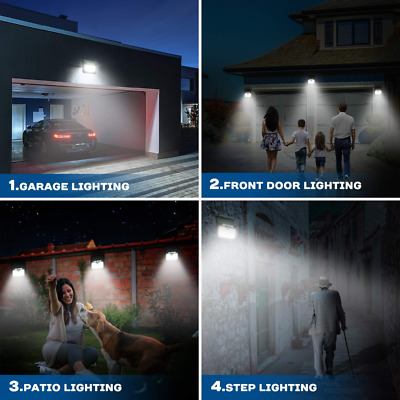 Solar Lights Outdoor, Motion Sensor 33 LED Wireless Powered Waterproof Security