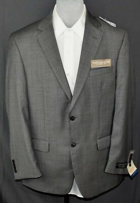 Jos. A. Bank Gray 2 Button Tailored Fit Jacket Men's Size 41R Wool Blend New