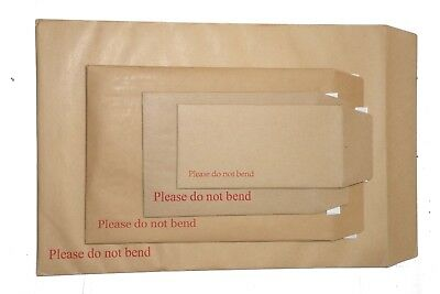 CHEAP Board Backed Envelopes For A3 A4 A5 A6 - C6 C5 C4 C3 in Sizes Brown colour