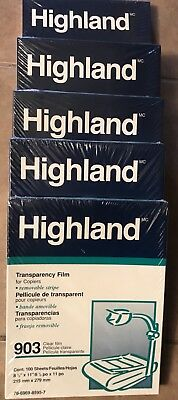 Highland 903 Transparency Film ... FIVE BOXES!