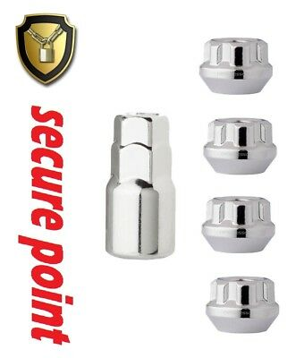 Locking Wheel Nuts M12 x 1.5 Bolts Tapered for Ford Mondeo Mk4 07-14 ALL MODELS