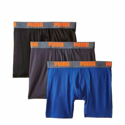 [PUMFW1511564-429] Mens Puma 3 Pack Vol Boxer Brief -Blue/Orange Tech Boxerbrief