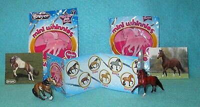 Breyer Mini Whinnies Surprise Series 2 Bay Pinto Bailey & Red Bay Hannah New 16