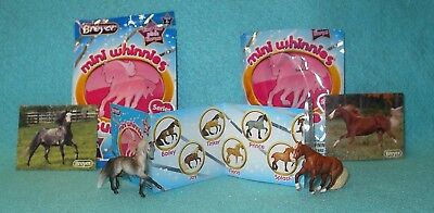 Breyer Mini Whinnies Surprise Series 2 Dapple Grey Elsa & Chestnut Joy New 16