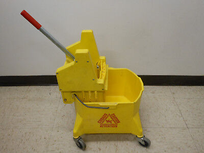 Continental Commercial 26 Quart Structolene Yellow Mop Bucket with Wringer