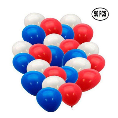 Red Blue White Latex Balloons Patriotic 4th of July Decoration 12'' 90 Pcs USA