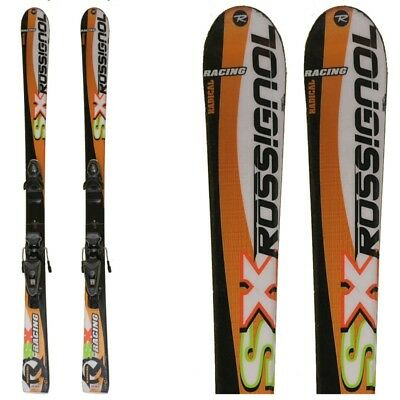 Ski occasion junior Rossignol SX Radical Racing blanc/orange + fixations