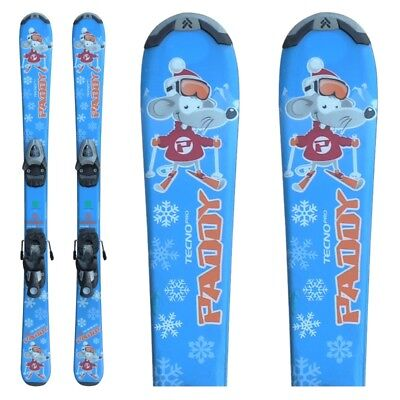 Ski occasion junior Tecno pro Paddy bleu souris + fixations