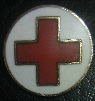 ✚3546✚ German RED CROSS CIVIL MEMBERSHIP BADGE WW2 Rotes Kreuz DRK enamelled