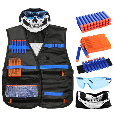 Tactical Nerf Gun Vest Kit for N-Strike Elite Series Foam Dart Quick Reload Clip