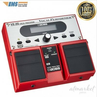 NEW BOSS Vocal Processor VE-20 Musical instrument Red genuine from JAPAN